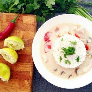 Tom Kha Kai (Thaise Kippensoep met Kokosmelk)