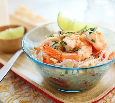 Yum Woon Sen (Garnalen Noodle Salade)