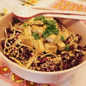 Zoet en Zure Tofu Salade